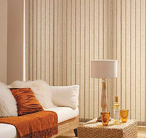 Cream color vertical blinds in luxurious room