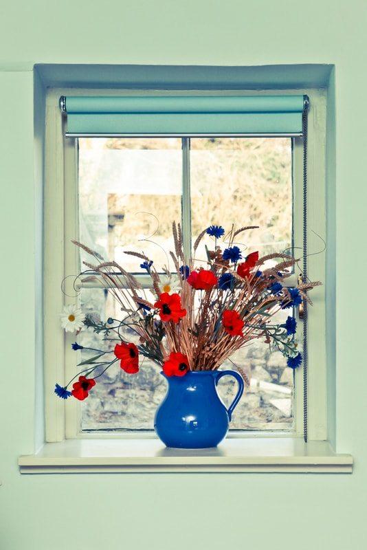 funky window decoration
